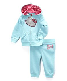 Another great find on #zulily! Aero Hello Kitty Hoodie & Sweatpants - Infant by Hello Kitty #zulilyfinds