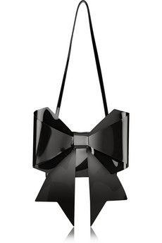 MM6 Maison Martin Margiela Bow-embellished PU shoulder bag | NET-A-PORTER