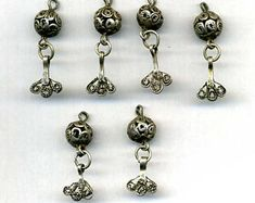 Morocco - lot of 6 silver pendants for necklace or earrings