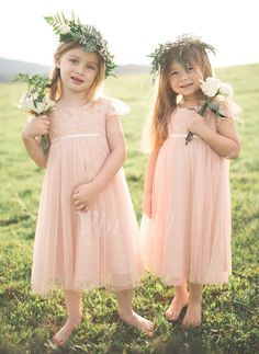 2016 New Cute Blush Flower Girls Dresses for Weddings Lace Top Cap Sleeve Girls Pageant Party Gowns First Communion Dress for Child Toddler Blush Flower Girl Dresses, Boho Flower Girl, Girls Bridesmaid Dresses, Bridesmaid Flowers, Girls Dresses, Flower Girls, Wedding Attire, Wedding Dresses, Communion Dresses