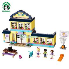 (32.92$)  Know more  - Building Blocks Set  Compatible Friends Series 489 Pcs 3 Toy Figures DIY HIgh School Brinquedos Bricks Toys for Girls