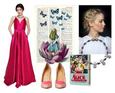 Prom Look: Alice in Wonderland by chicbychoiceworld on Polyvore featuring Christian Louboutin, Olympia Le-Tan and Mawi