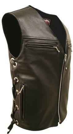 Bike Week Leathers :: Mens Leather Motorcycle Vests :: The Elite Leather Vest