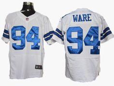 Ware Jersey: Nike Elite #94 Dallas Cowboys Jersey in White