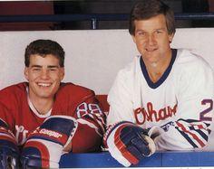 The Big E (Eric Lindros) and Number 4 (Bobby Orr) Hockey Games, Hockey Players, Eric Lindros, The Big E, Bobby Orr, Maximum Effort, Philadelphia Flyers, Boston Bruins