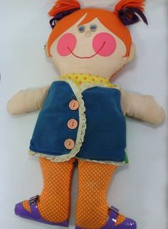 Vtg 1973 Dressy Bessy Doll 1970s Playskool Teaching Toy Plush Good | eBay