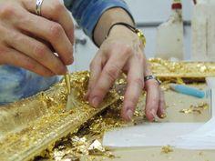 Applying Gold Leaf to a frame!