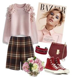 """""""Untitled #295"""" by mira-wiryanti ❤ liked on Polyvore featuring Chicwish, Alberta Ferretti, Chloé, Converse, Tod's, Diane James, women's clothing, women, female and woman"""