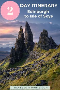Isle of Skye to Edinburgh 2 Day Tour. A complete guide for travelling to Isle of Skye from Edinburgh, Scotland. This 2 day itinerary will help you maximise your time and ensure you see all the best places on the Isle of Skye, as well as between Skye a Europe Travel Guide, Travel Destinations, Travel Guides, Travel Abroad, Scotland Travel, Ireland Travel, Scotland Trip, Edinburgh Tours, Edinburgh Scotland