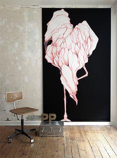 Flamingo floor to ceiling poster  http://www.paradisco-productions.com/