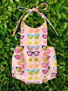 Retro Sunnies Boho Romper Baby Girl or Toddler Girl Outfit Onesie Baby Girl Gift Summer Romper Vintage Style Romper