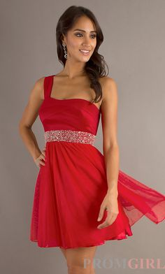 Gorgeous red dress with one strap and rhinestones!!!!!!❤️❤️❤️❤️❤️✨
