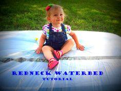 Redneck Waterbed tutorial. Easy peasy my friends! Definitely worth doing again!