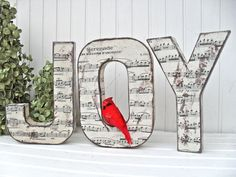 Joy letters..singing Joy Joy Joy! :) // match it with the build your own letters pin and would be a relatively cheap thing to do. :)