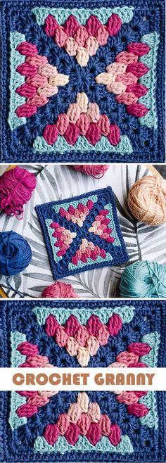 Most current Pics granny square ideas Concepts Crochet: Farmhouse Granny Blanket – Handmade paris Crochet Quilt, Crochet Blocks, Crochet Motif, Crochet Designs, Free Crochet, Knit Crochet, Crochet Afghans, Crochet Blankets, Beginner Crochet