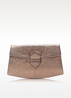 Vida Metallic Leather Clutch - Francesco Biasia