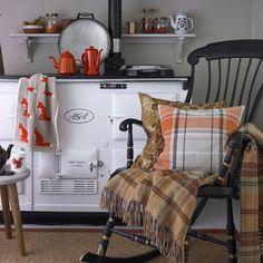 autumn colour Cosy-country-kitchen-with-white-Aga Decor, Ideal Home, Furniture, Home Decor Kitchen, Home, White Bedroom Furniture, White Furniture, Country Cottage, Country Cottage Decor