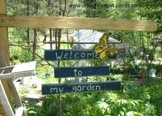 Welcome to my Garden...Wonderful ideas for garden signs
