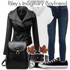 Riley's Imaginary Boyfriend by leslieakay on Polyvore featuring WearAll, rag & bone, Converse, Natures Jewelry, disney, disneybound and disneycharacter