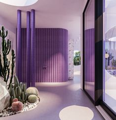 Gallery of Round Pillars in Architecture: From the Classical Column to the Modern Sculptural Support - 37 Interior Pastel, Spa Interior Design, Purple Interior, Futuristic Interior, Color Lila, Purple Home, Restaurant Design, Interiores Design, British Museum