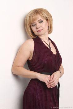 Купить Платье «Sirius Beetroot» - платье, яркий, вязаное платье, ажурное платье, фуксия