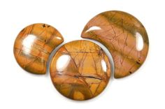 Picasso Jasper side-drilled cabochons (set of 3) by Fabby Dabby Stones on Etsy