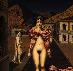 dolorescorporales:  Paul Delvaux - Nodes Rose (Detail)