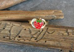 Check out this item in my Etsy shop https://www.etsy.com/listing/521385180/gold-ringgold-baby-ringstrawberry