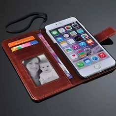 Luxury Leather Wallet Stand With Photo Frame Phone Bags Cover Case For Apple iPhone 6 plus 5.5 inch