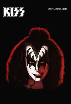 KISS Band Collectibles ***Gene Simmons Solo Album Countertop Stand-Up Display*** KISS Band KISS Poster Vintage Frameable Kiss Collection