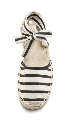 Soludos Classic Striped Espadrille Sandals Wantering