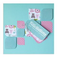 Carte Félicitations Naissance Fille It's a girl, Collection Lovely Scrap, Lovely Carte