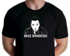 Bruce Springsteen - Relaxed Bruce T-shirt Design by graphic artist Jarod Available from www.rocknprint.nl