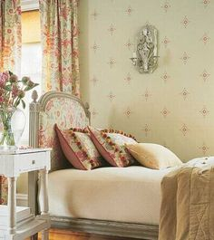 french decor and floral bedroom wallpaper