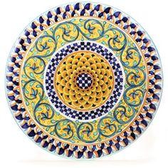 Decorative Plates Miniature Dollhouse Blue Yellow Doll Houses Tuscan Decor Future House Kitchen Ideas Vines Lovely Things  sc 1 st  Pinterest & Tuscan Geometric 16