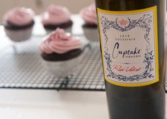 For these Chocolate Red Wine Cupcakes I figured the Cupcake Winery wine would be a perfect pairing! Cupcake Winery's Red Velvet is a combination of Zinfandel, Merlot, Cabernet Sauvignon and Petite Sirah – which has all of the perfect elements to pair with chocolate! But, if you enjoy sweet fruits a great wine would be a nice Blackberry or Strawberry Wine