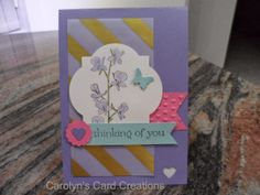 Carolyn's Card Creations: Thinking of You & Music Camp