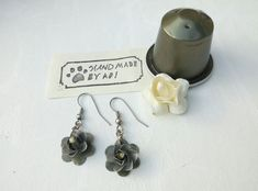 Pendientes de mujer hechos a mano, joyas de nespresso café weman reciclados…