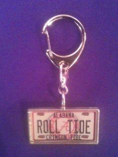 Licensed University of Alabama keyclip by AnnPedenJewelry on Etsy, $9.99