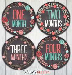 Monthly Baby Milestone Stickers Baby Girl Baby by HauteBelliesShop, $10.00
