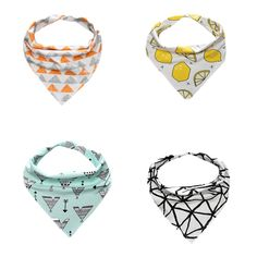 Jspoir Melodiz Cotton Cute Baby Bibs Bandana For Girls And Boys -- Awesome products selected by Anna Churchill