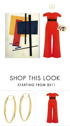 """Malevich"" by ballrooms-of-mars ❤ liked on Polyvore featuring BillyTheTree, self-portrait and Olympia Le-Tan"