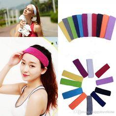 2016 Elastic Headband Sports Yoga Dance Biker Wide Headband Stretch Cotton Hairband Sweat Headband Plain Colors From Happytraveltime, $2.92 | Dhgate.Com