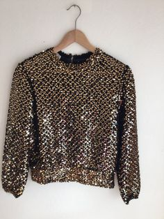 Vintage Pailette sequin sweater party wear glitter by MindfulGrace