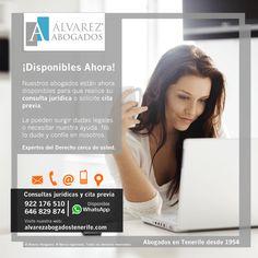 Consultas jurídicas y cita previa online. Resuelva sus dudas legales con nuestros abogados en Tenerife. https://alvarezabogadostenerife.com/?p=5430