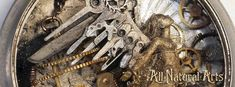 Watch Parts and Steampunk Jewelry and Sculptures by Sue Beatrice. All Natural Arts. Steampunk Animals, Hanging Clock, Coin Art, Motorbike Girl, Steam Punk Jewelry, Miniature Dolls, Metal Art, Photo Art, Custom Design