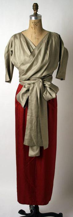Evening Ensemble Claire McCardell (American) ca. 1947-50 silk