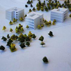 concept model of office center on Behance Maquette Architecture, Landscape Architecture Model, Landscape Model, Architecture Panel, Architecture Portfolio, Landscape Design, Model Tree, 3d Modelle, Arch Model