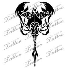 Marketplace Tattoo Tribal Scorpion #17104 | CreateMyTattoo.com