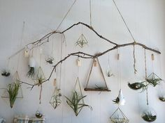 None of this geometric crap  and instead of up against the wall, have the branches comes outward